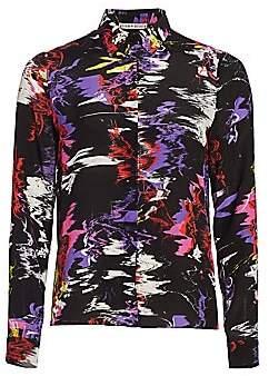 Alice + Olivia Women's Willa Silk Shirt