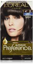 L'Oreal Superior Preference Fade-Defying Color + Shine System, 4C Cool Dark Brown (Packaging May Vary)