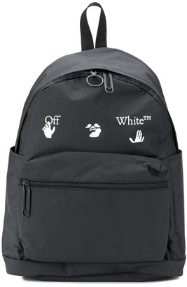 Off-White Matte Logo Print Backpack