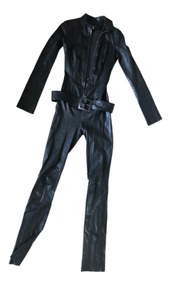 Jitrois Black Leather Jumpsuits