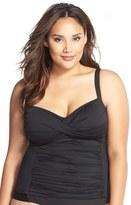 LaBlanca Plus Size Women's La Blanca 'Glamour' Tankini Top