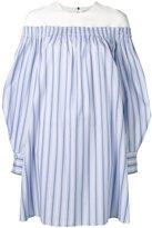 MSGM off-shoulder shirt dress - women - Cotton - 40
