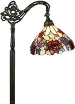 AMORA Amora Lighting AM1114FL12 Tiffany Style Roses Reading Floor Lamp 62 In