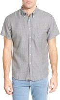 Billy Reid Tuscumbia Standard Fit Short Sleeve Jacquard Printed Shirt