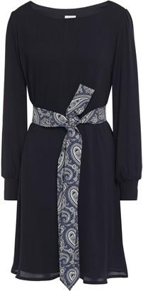 Claudie Pierlot Belted Crepe Mini Dress