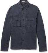 Tomas Maier - Slim-fit Washed Brushed Stretch-cotton Jacket