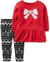 Carter's 2-Pc. Bow Peplum Sweater & Leggings Set, Baby Girls (0-24 months)