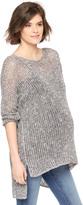 Motherhood High-low Hem Open Stitch Maternity Sweater