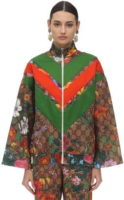 Gucci Gg Supreme & Flora Print Sweatshirt