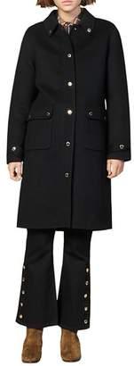 Sandro Dameen Wool-Blend Coat