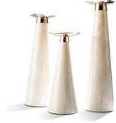 N. Bone Candlestick Holder Trio Set