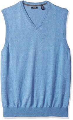 Izod Men's Big Premium Essentials Solid V-Neck 12 Gauge Sweater Vest