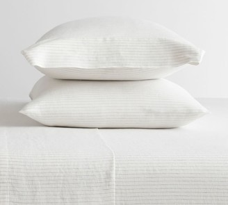 Pottery Barn Belgian Flax Linen Pinstripe Pillowcases