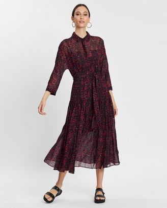 AllSaints Eley Plume Dress