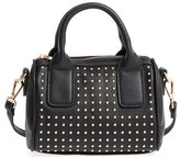 Sole Society Maddoxx Studded Faux Leather Satchel - Black