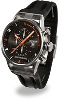 Locman Men's 44mm Rubber Band Steel Case Quartz Watch 051000bkfor0gok