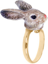 Nach Mini Rabbit Adjustable Porcelain Ring