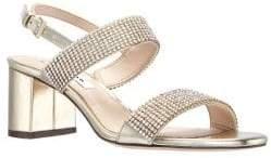 Nina Naomi Embellished Block Heel Sandals