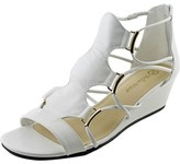Bella Vita Isla Women W Open Toe Leather White Wedge Sandal.