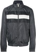 Bally striped panel bomber jacket - men - Polyamide/Polyester/Metallic Fibre - 50