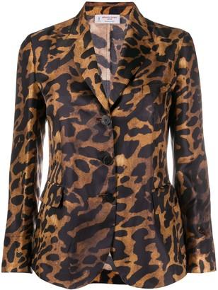Alberto Biani Leopard-Pattern Blazer
