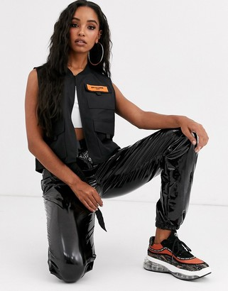 Sixth June cropped utility singlet with front logo