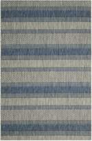 Safavieh Courtyard Collection CY8464-36812 Grey and Navy Indoor/Outdoor Area Rug, 6-Feet 7-Inch by 9-Feet 6-Inch