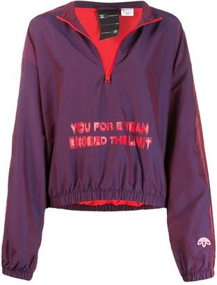 Adidas Originals By Alexander Wang Oversized Slogan Windbreaker Jacket