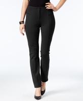 Alfani Petite Faux-Leather-Trim Skinny Pants, Created for Macy's