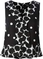 Proenza Schouler sleeveless polka dot blouse