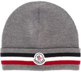 Moncler striped trim beanie - men - Virgin Wool - One Size