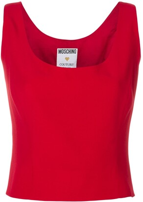 Moschino Pre-Owned Corset-Style Sleeveless Top