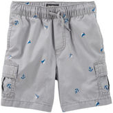 Osh Kosh Nautical Print Pull-On Cargo Shorts