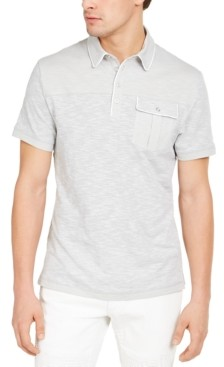 INC International Concepts Inc Men's Big & Tall Pattern-Blocked Polo Shirt, Created for Macy's