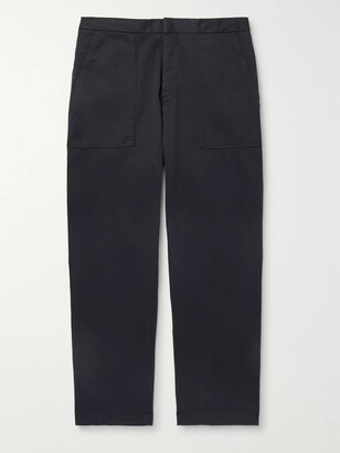 Officine Generale Geron Tapered Wool-Twill Cargo Trousers - Men - Blue