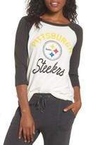 Junk Food Clothing Women's Nfl Pittsburgh Steelers Raglan Tee