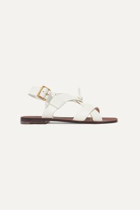 Zimmermann Leather Sandals - White