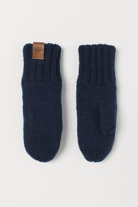 H&M Knit Mittens - Blue