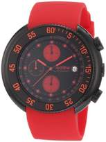 Redline red line Men's 50038-BB-01-RD Driver Chronograph Dial Red Silicone Watch