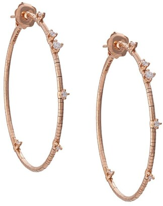 Mattia Cielo 18kt Rose Gold Diamond Hoop Earrings