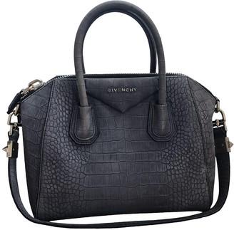 Givenchy Antigona Grey Suede Handbags