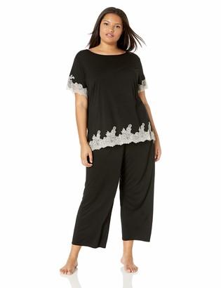 Natori Women's Plus Size Luxe Shangri-la Short Sleeve Pajama