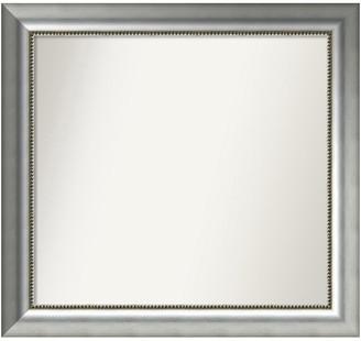 "Amanti Art Wall Mirror,, Vegas Burnished Silver Wood, 30""x28"""