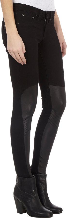 Rag and Bone Rag & Bone Samurai Legging Jeans - BLACKOUT/LTHR