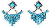 Robert Rose Silver-Tone & Turquoise-Tone Earrings