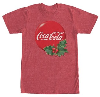 Fifth Sun Men's Tee Shirts RED - Heather Red Holly Coca-Cola Tee - Men