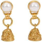 One Kings Lane Vintage Chanel Pearl & Bell Florentine Earrings