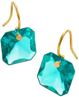 Baccarat Gold and Crystal Marie-Helene de Taillac Earrings