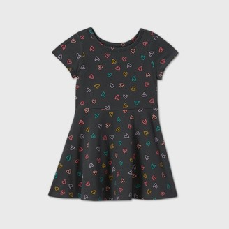 Cat & Jack Toddler Girls' Knit Short Sleeve Dress - Cat & JackTM