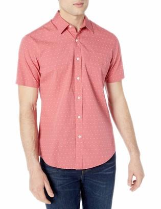 Amazon Essentials Men's Short-Sleeve Slim-Fit Casual Poplin Shirt Shirt
